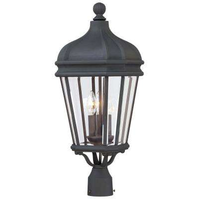 Harrison 3-Light Black Outdoor Post Mount Light