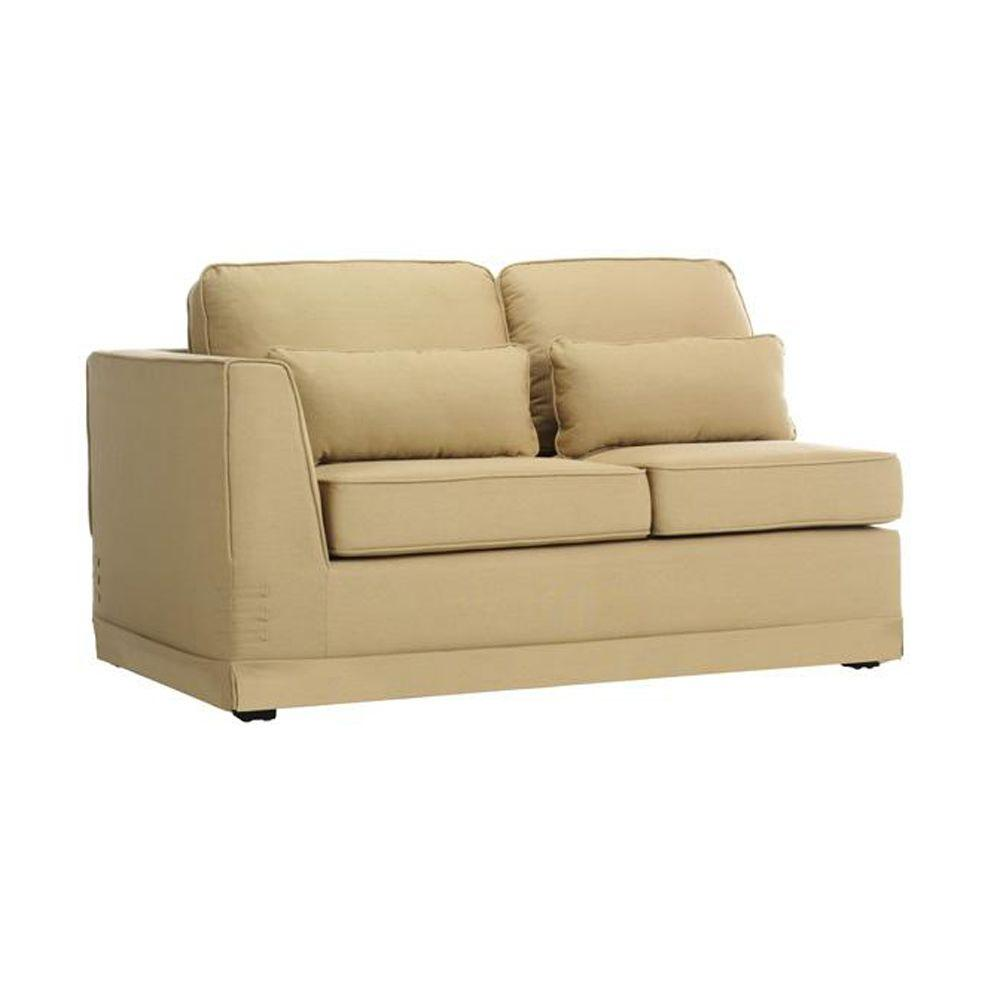 Home Decorators Collection Tyson Khaki 37 in. W Sectional Pieces Left Arm Loveseat