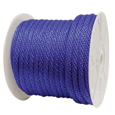 5/8 in. x 140 ft. Solid Braided Poly Rope Blue