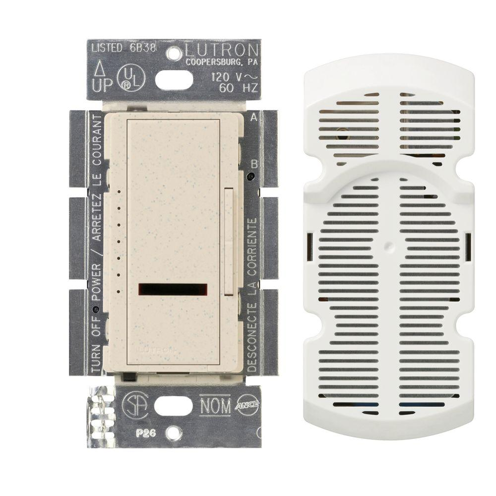 Lutron Maestro IR Multi-Location 7-Speed Digital Fan Control - Limestone