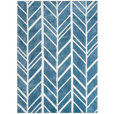 Alder Blue 9 ft. x 12 ft. Area Rug