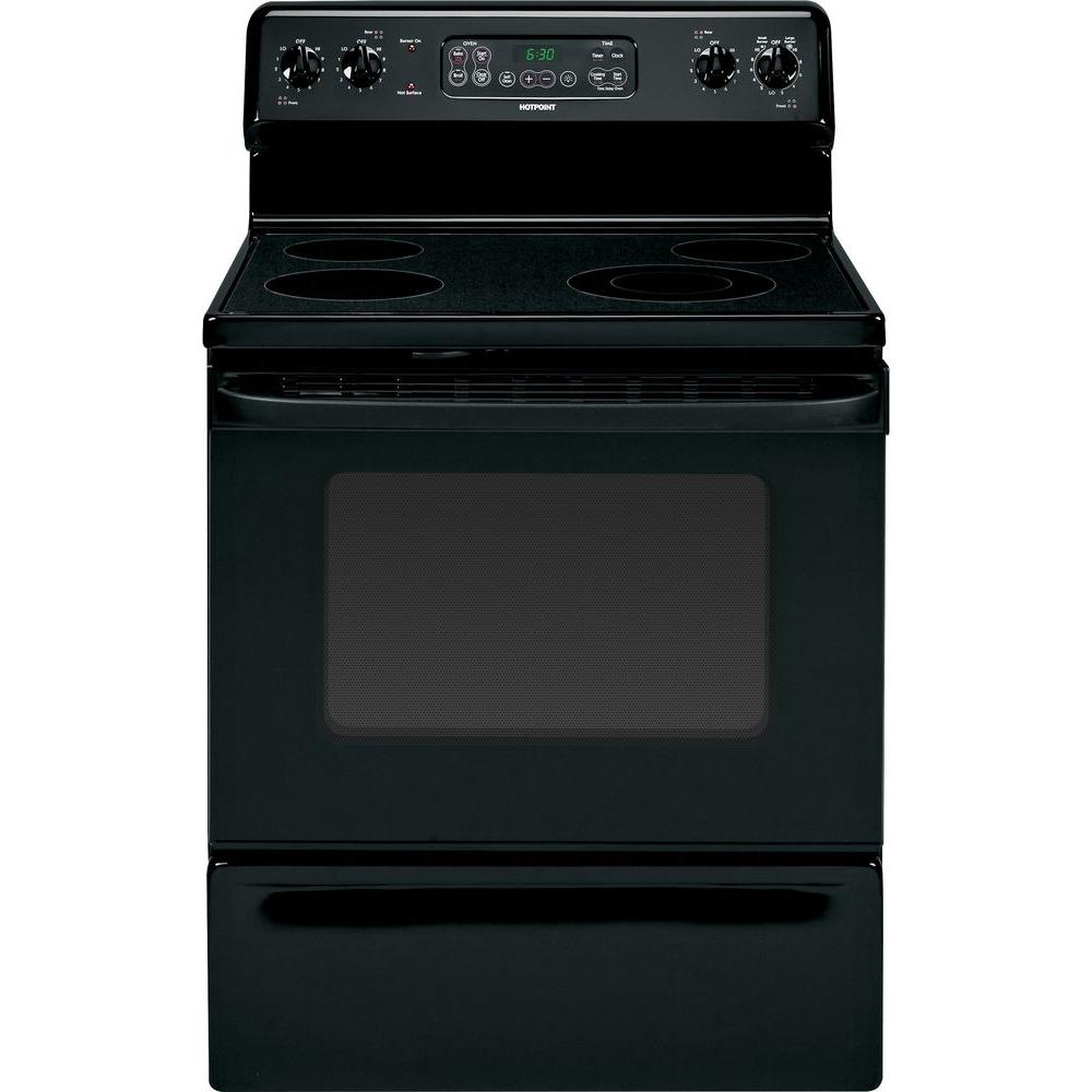 Hotpoint 4.5 cu. ft. Electric Range with Self-Cleaning Oven in Black
