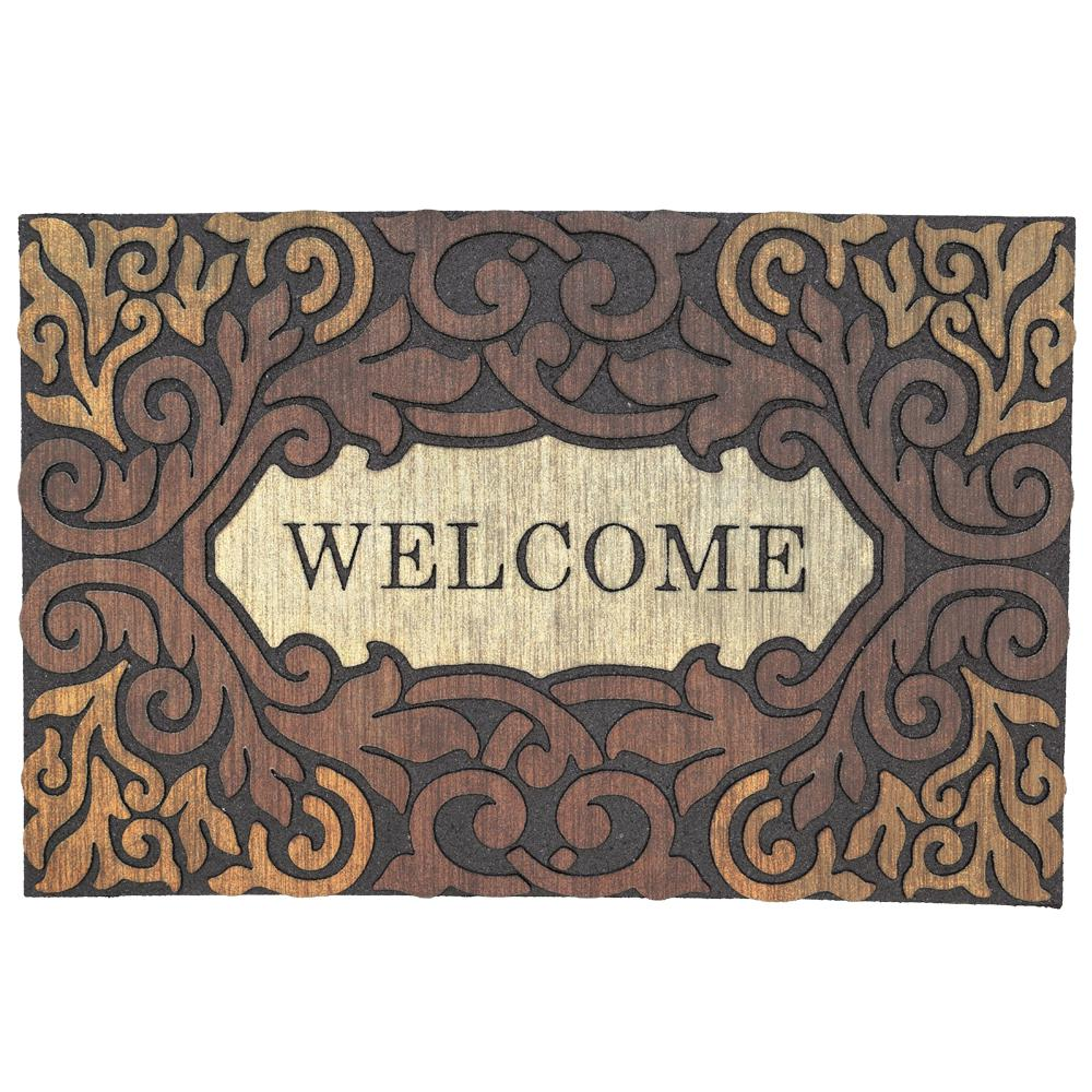 Mohawk Home Scroll Border Welcome Multi 23 In. X 35 In. Door Mat 465810    The Home Depot
