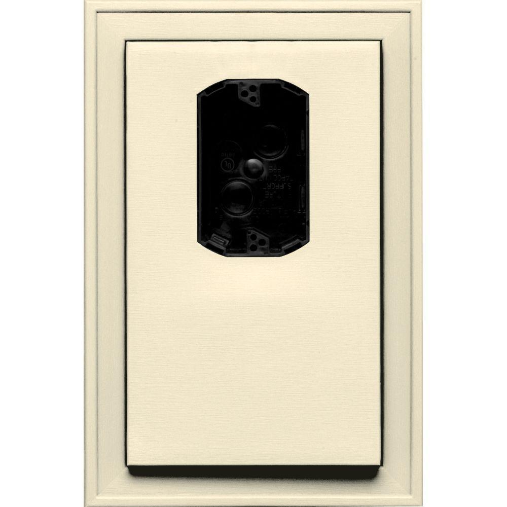 8.125 in. x 12 in. #020 Heritage Cream Jumbo Electrical Mounting Block Offset