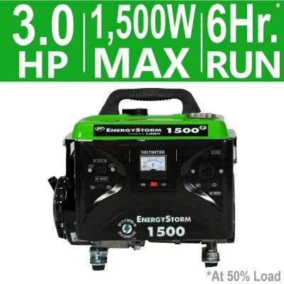 Energy Storm 1,500/1,200-Watt Gasoline Powered Portable Generator
