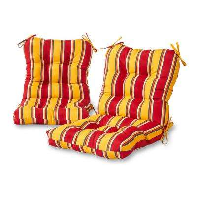 Carnival Stripe Outdoor Dining Chair Cushion (2-Pack)