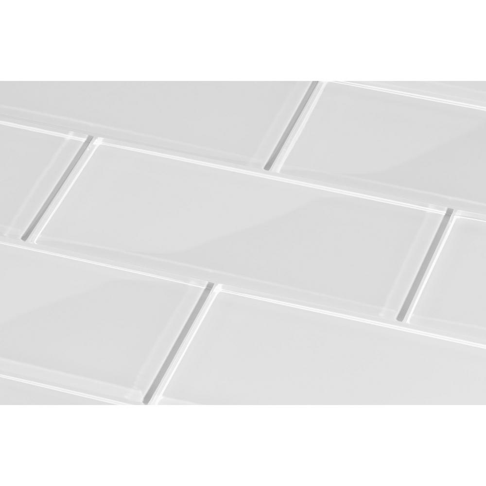 Giorbello Bright White Subway 3 In X 6 8mm Gl B