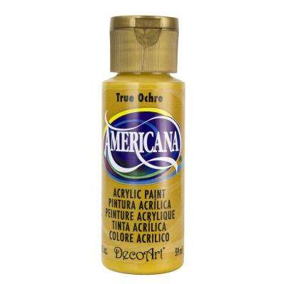 Americana 2 oz. True Ochre Acrylic Paint