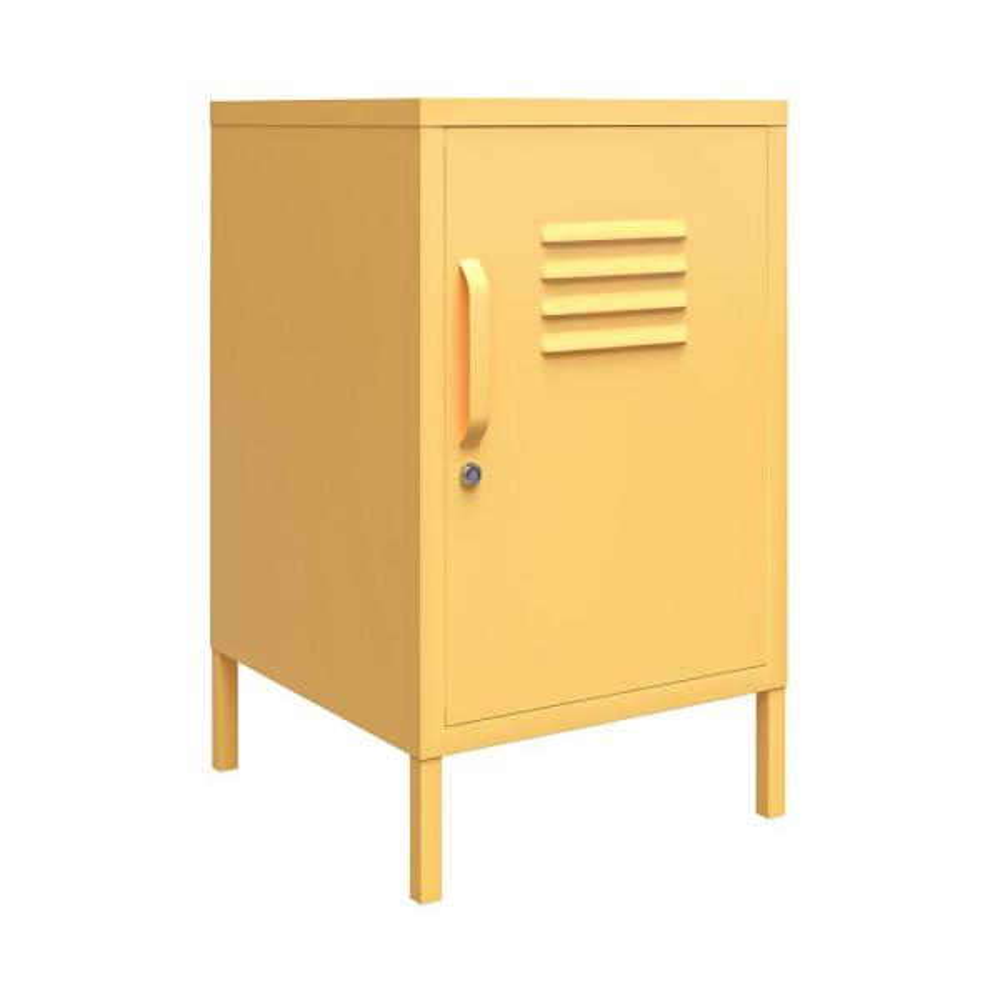 Cache 27.14 Yellow Metal Locker End Table