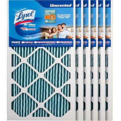 12 in. x 24 in. x 1 in. Certified Asthma and Allergy Triple Protection Air Filter (6-Pack)