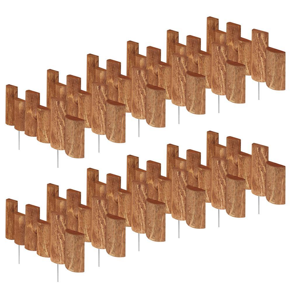 Greenes Fence 18 in. L x 1.5 in. W Half Log Edging (12-Pack)