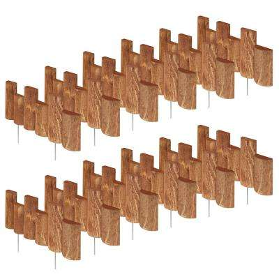 18 in. L x 1.5 in. W Half Log Edging (12-Pack)