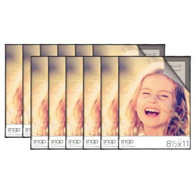 12-Opening 8.5 in. x 11 in. Picture Frame