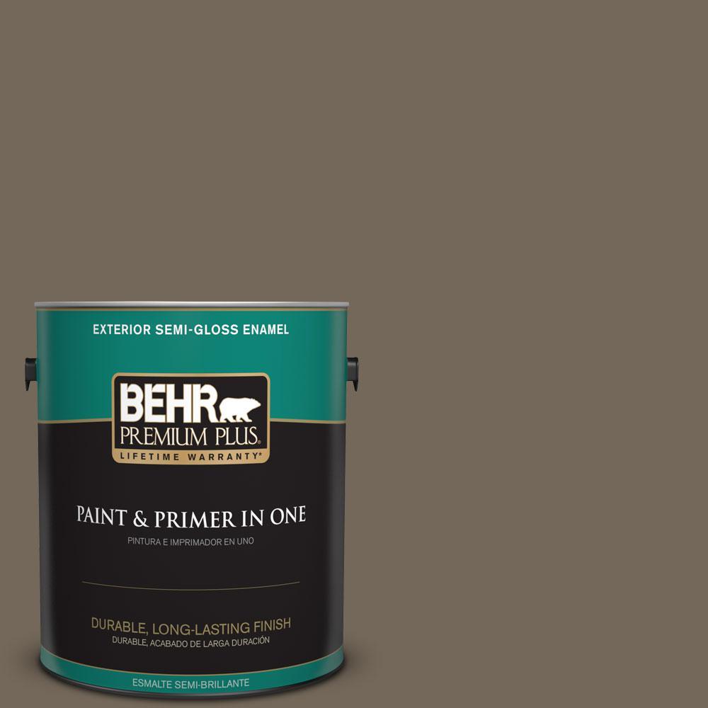 1-gal. #720D-6 Toasted Walnut Semi-Gloss Enamel Exterior Paint