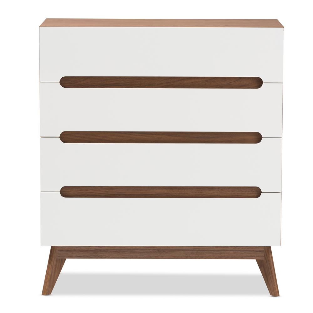 Calypso 4-Drawer White Chest