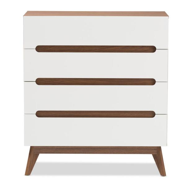 Baxton Studio Calypso 4-Drawer White Chest 28862-7500-HD