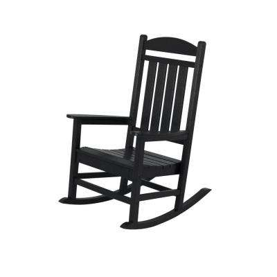 Presidential Black Patio Rocker