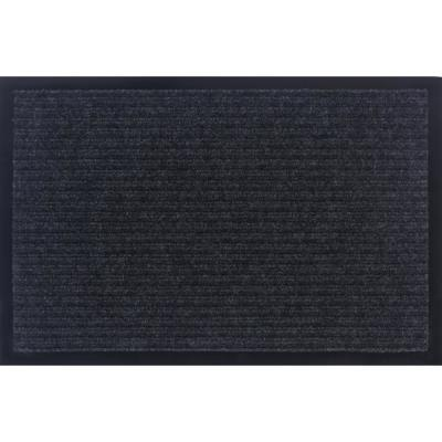 Otto Grip Collection Gray 16 in. x 24 in. PVC Backing Solid Indoor/Outdoor Doormat