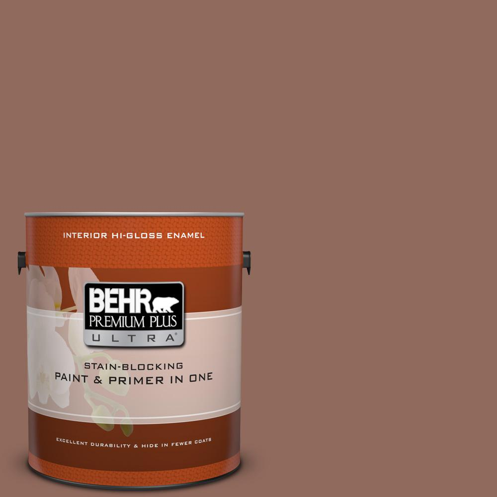 1 gal. #220F-6 Chocolate Curl Hi-Gloss Enamel Interior Paint