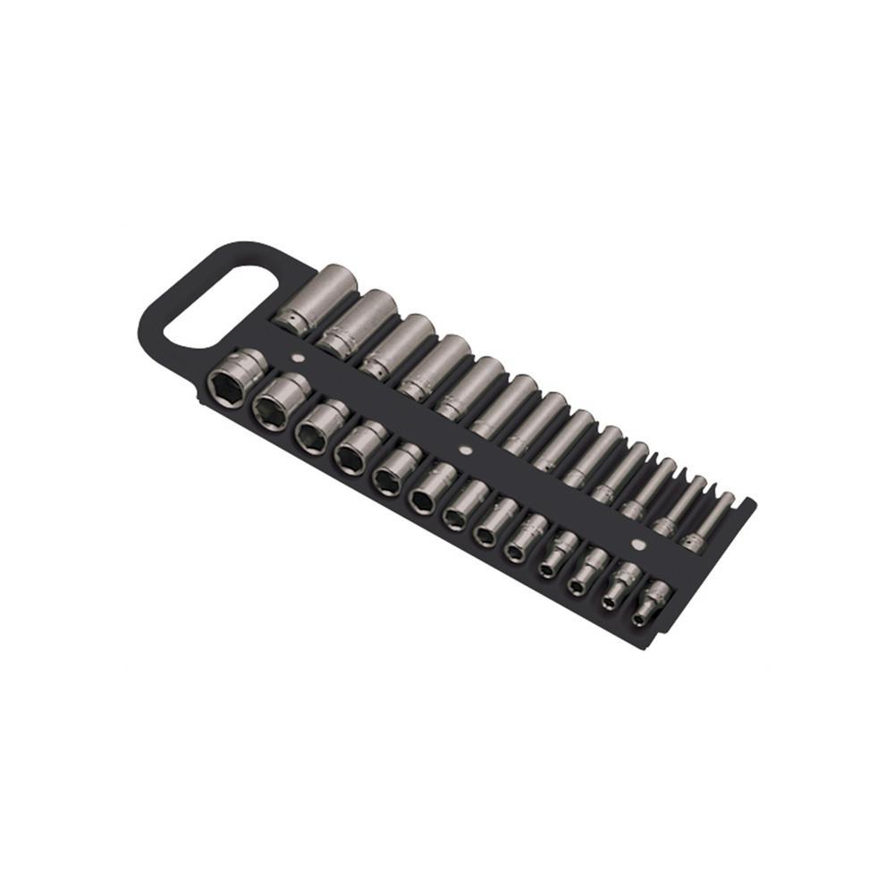 1/4 in. Drive Black Magnetic Socket Holder for 26 Sockets