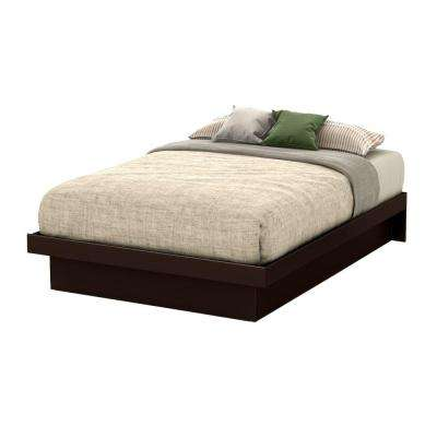Basic Full-Size Platform Bed in Chocolate