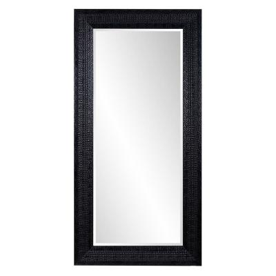 Oversized Rectangle Black Hooks Casual Mirror (96 in. H x 48 in. W)