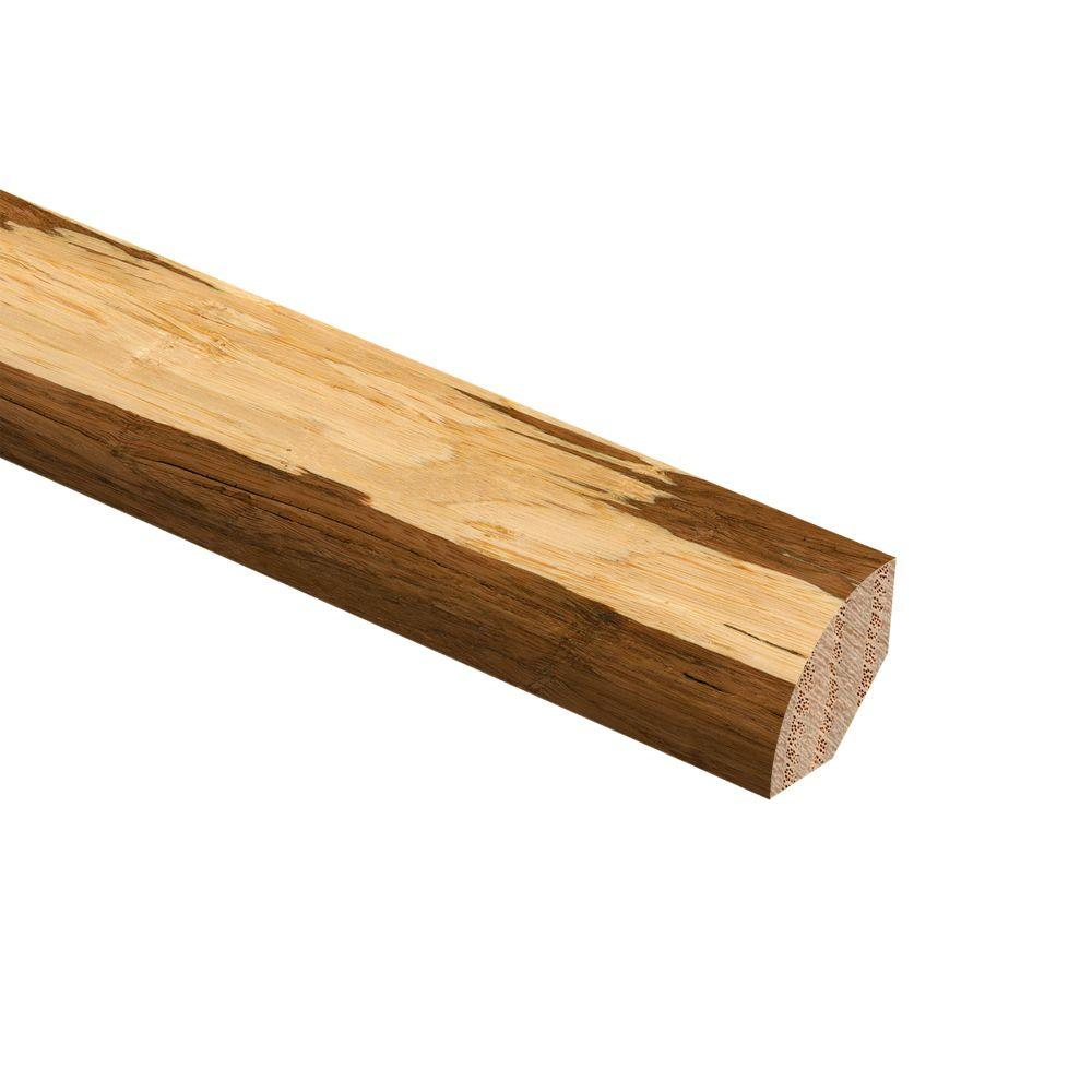 Zamma Strand Woven Bamboo Natural Tigerstripe 3/4 in. Thick x 3/4 in. Wide x 94 in. Length Hardwood Quarter Round Molding