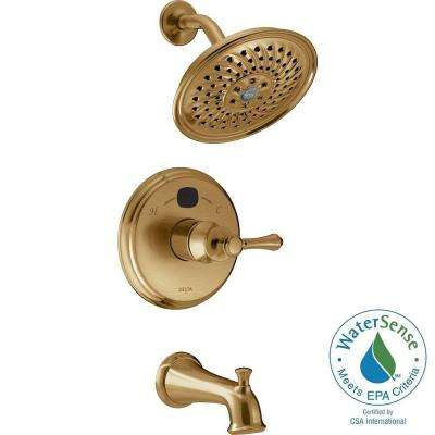 Temp2O Traditional 1-Handle Tub and Shower Faucet Trim Kit in Champagne Bronze (Valve Not Included)
