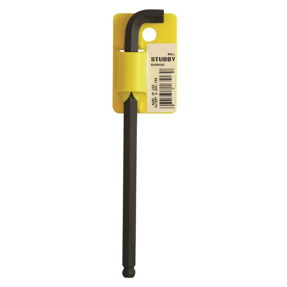Bondhus 0 050 In Stubby Ball End Long Arm L Wrench With