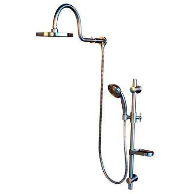 AquaRain Retrofit Shower System with Hand Shower and Shower Head Combo in Brushed Nickel