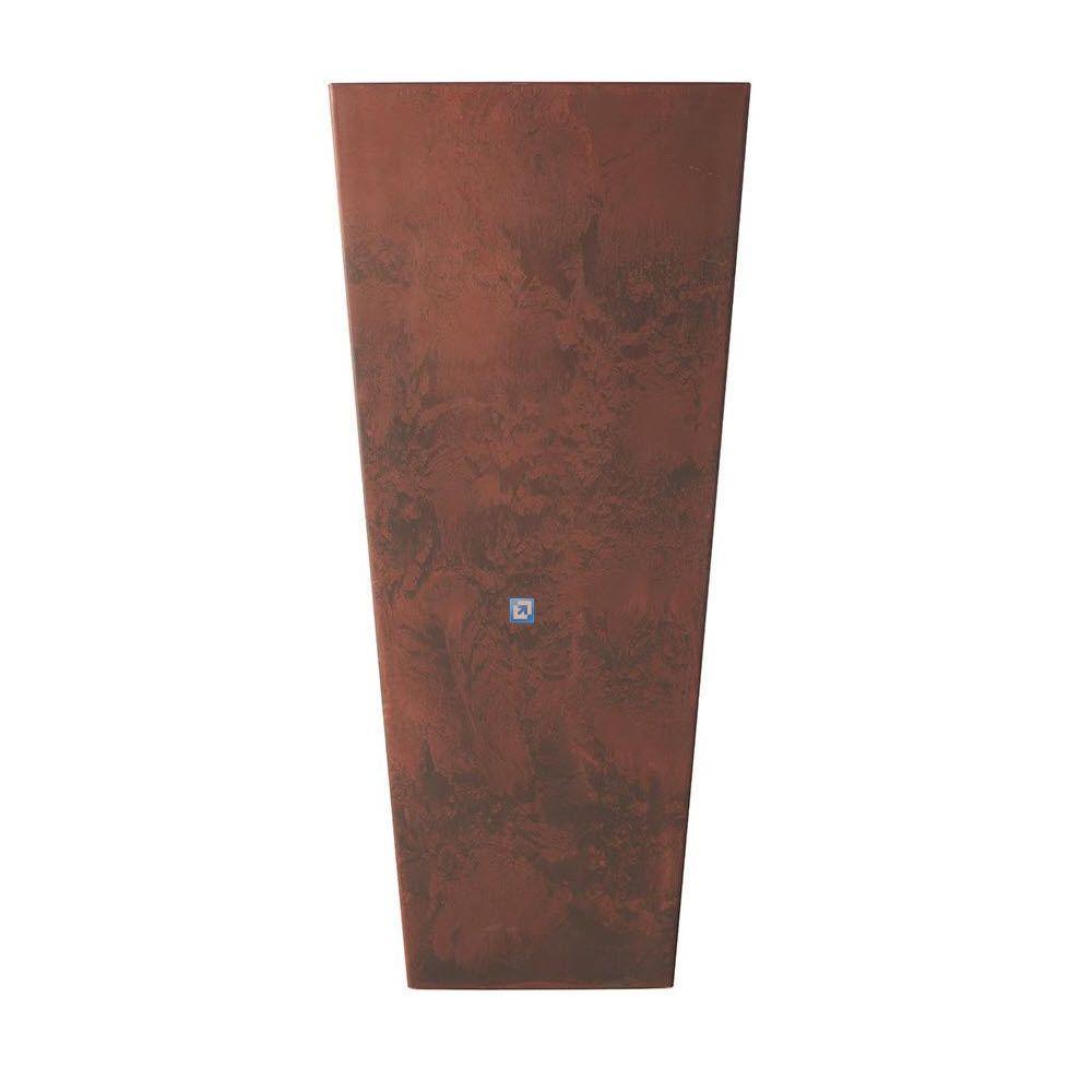 Home Decorators Collection Ella 16 in. Square Teak Fiberglass Planter