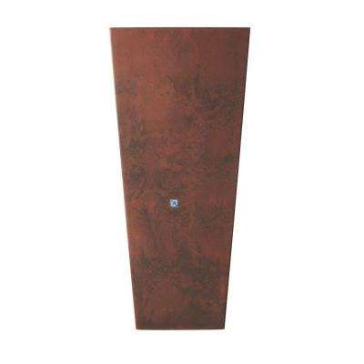 Ella 16 in. Square Teak Fiberglass Planter