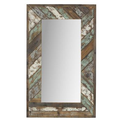 Brogan Distressed Wood Slat Wall Mirror