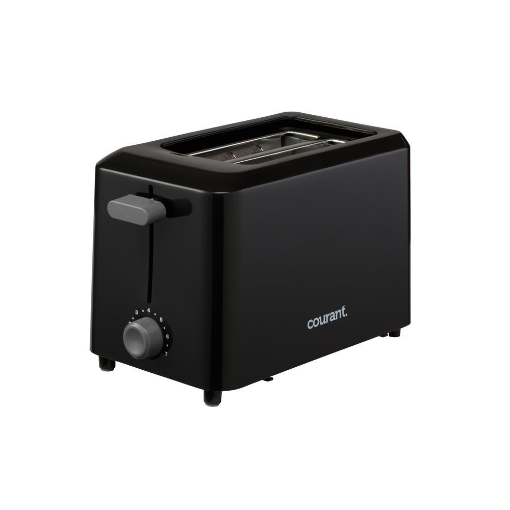 2-Slice Black Toaster