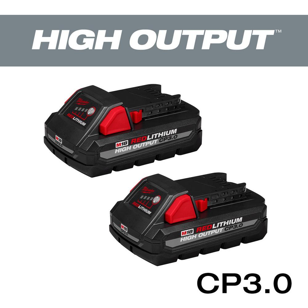 Milwaukee M18 18-Volt Lithium-Ion HIGH OUTPUT CP 3 0Ah Battery (2-Pack)