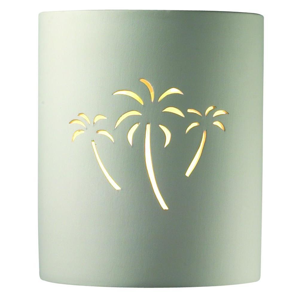 Filament Design Leonidas 1-Light Wall Paintable Ceramic Bisque Incandescent Sconce