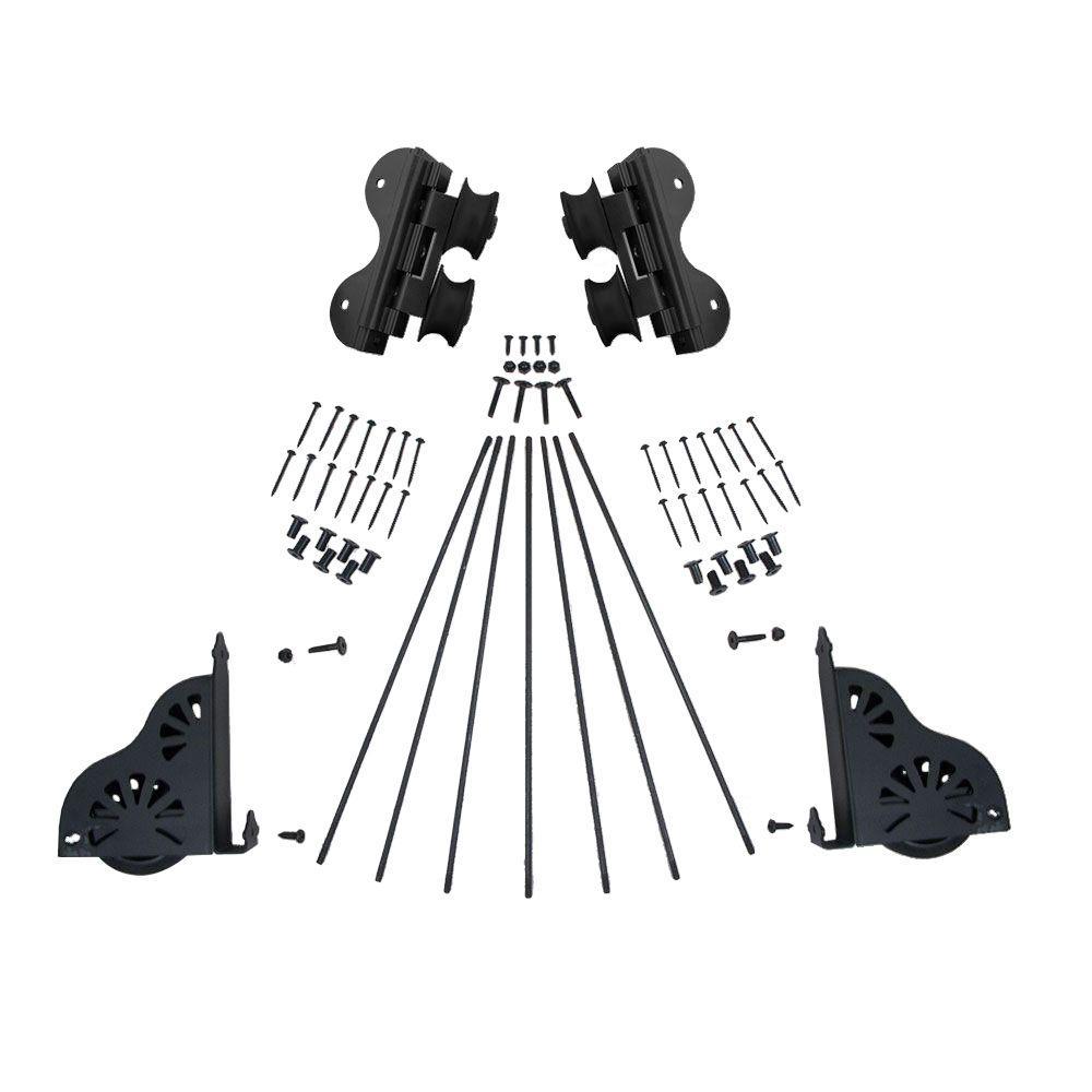 Quiet Glide Black Braking Swivel Rolling Ladder Hardware Kit for 16 in. W Ladders
