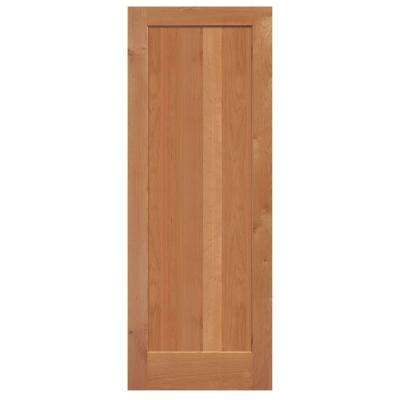 Knotty Alder 1 Panel Shaker Flat Solid Wood Interior