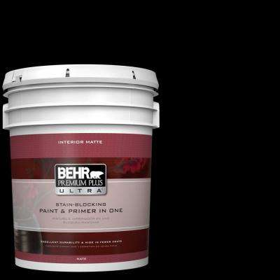 5 gal. Black Matte Interior Paint and Primer in One