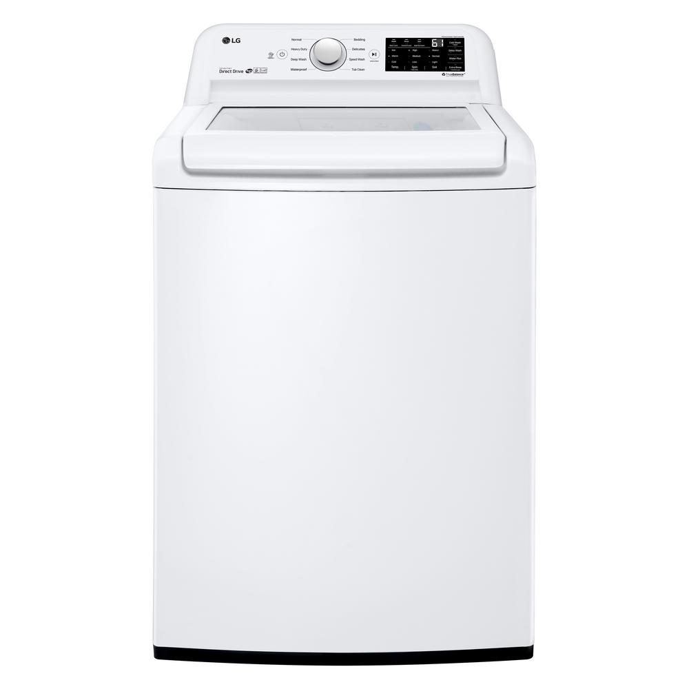 Lg Electronics 4 5 Cu Ft Mega Capacity Top Load Washer In White