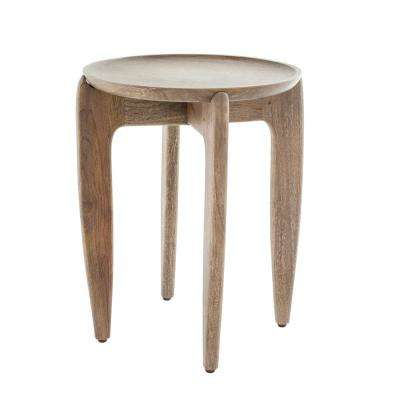 16 in. Round Mango Wood Table