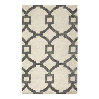 Sawyer Beige/Grey 9 ft. 6 in. x 13 ft. 6 in. Area Rug