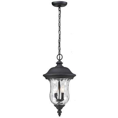 Lawrence Black 3-Light Incandescent Outdoor Hanging Pendant