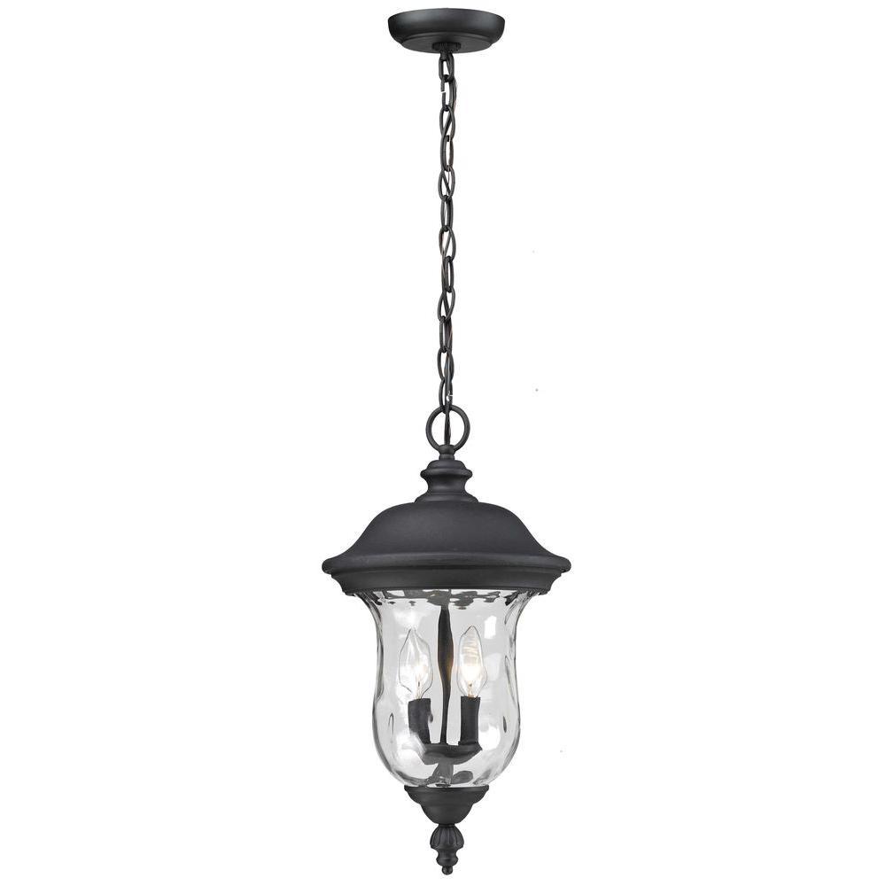 Lawrence Black 3-Light Incandescent Outdoor Hanging Pendant