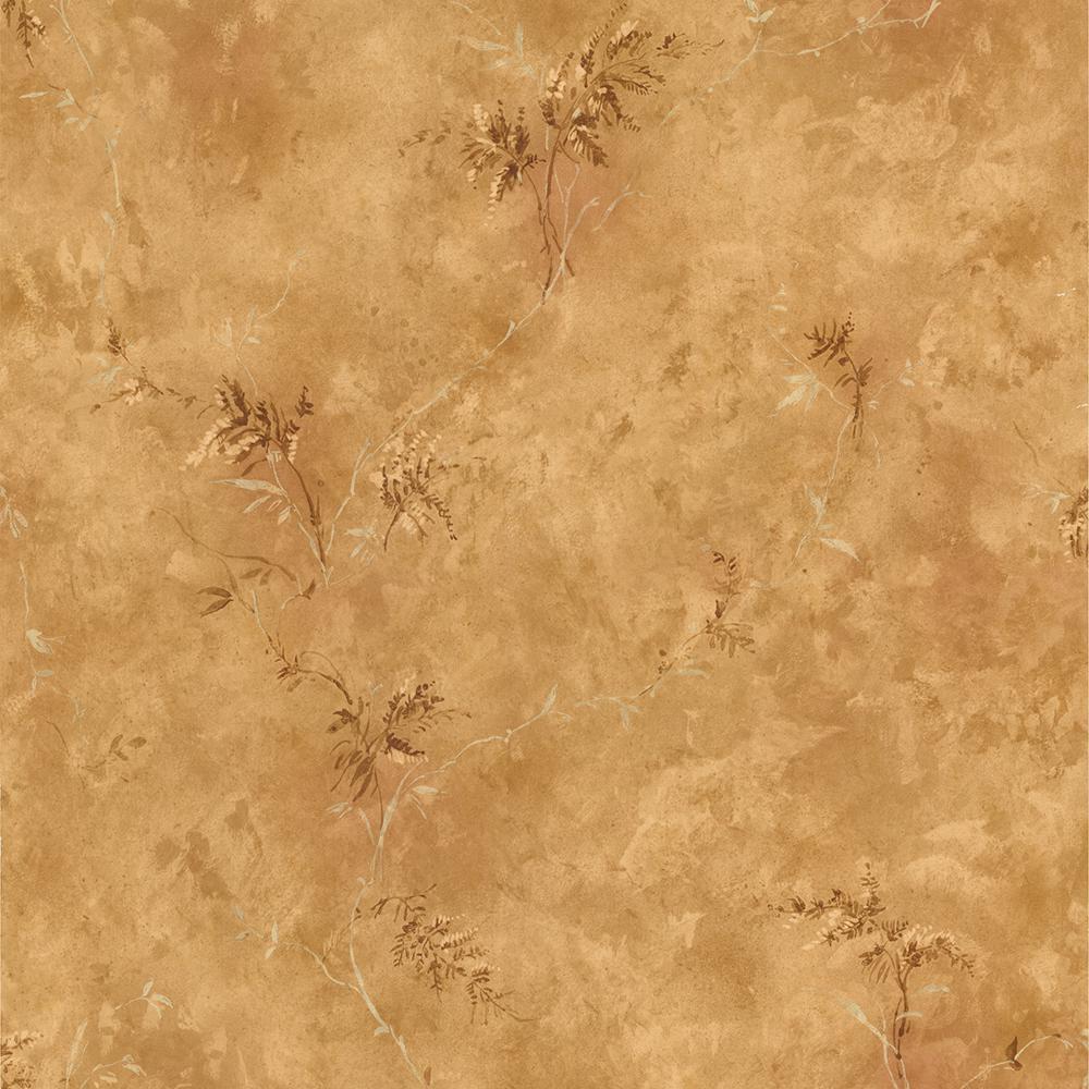 Brewster 56.4 sq. ft. Marta Pink Dainty Floral Stripe Wallpaper 436-66400