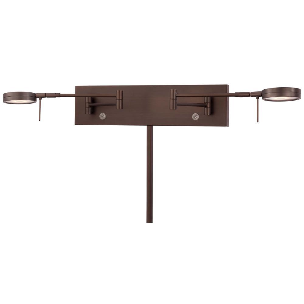 George Kovacs George's Reading Room 2-8-Watt Copper Bronze Patina Integrated LED Swing Arm