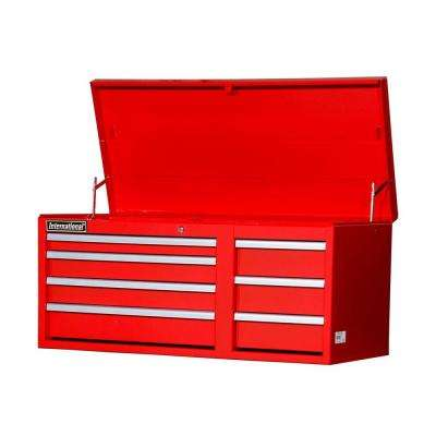 Workshop Series 42 in. 7-Drawer Top Chest, Red