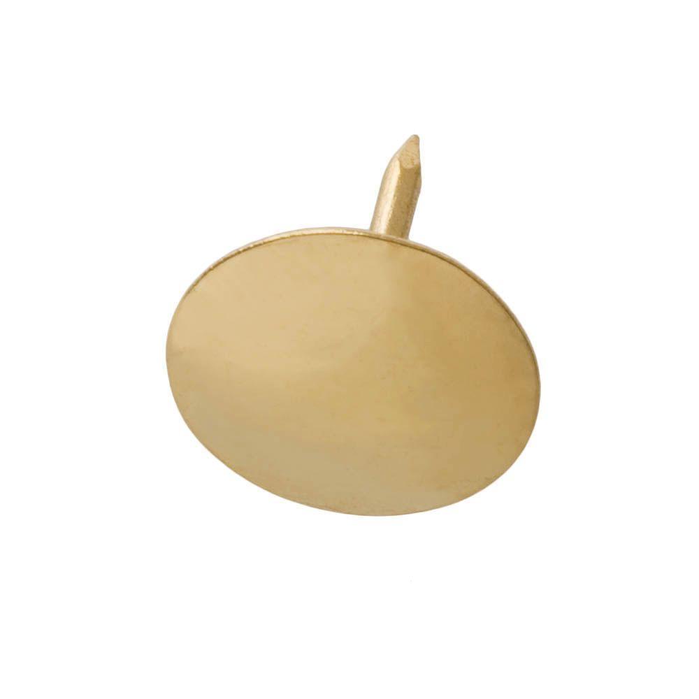 Everbilt Steel Brass Plated Flat Head Thumb Tack 200 Per