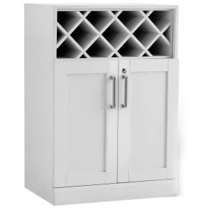 NewAge Products Home Bar White 16 inch Wine Storage Cabinet by NewAge Products