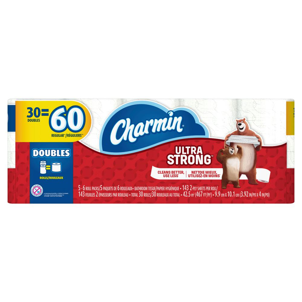 Charmin Charmin Ultra Strong Toilet Paper (30 Double Rolls), White